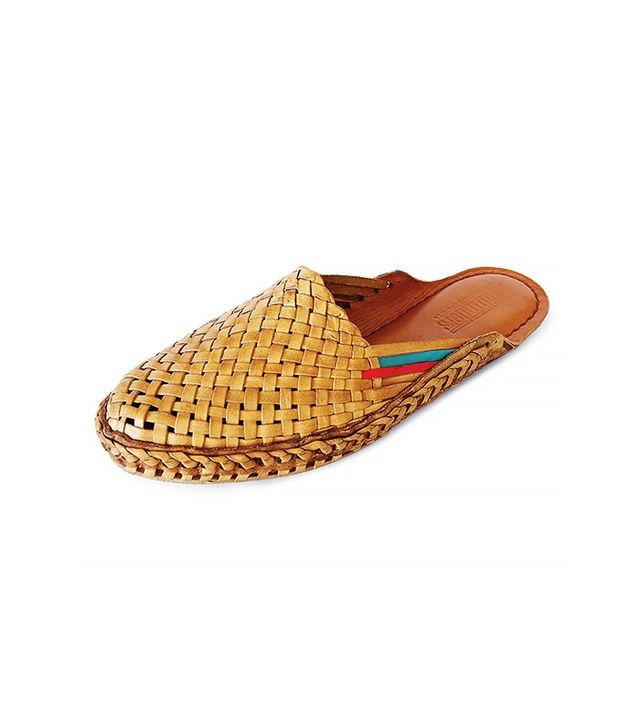 Mohinders Woven Leather City Slippers