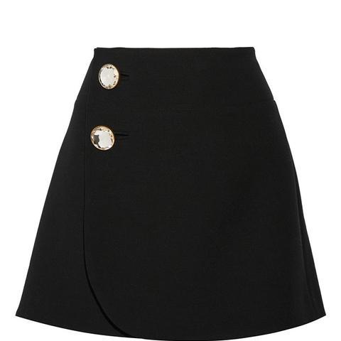 Wool Wrap Mini Skirt