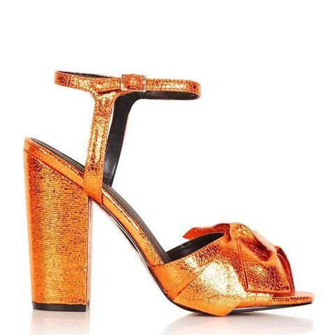 Revamp Metallic Bow Sandals