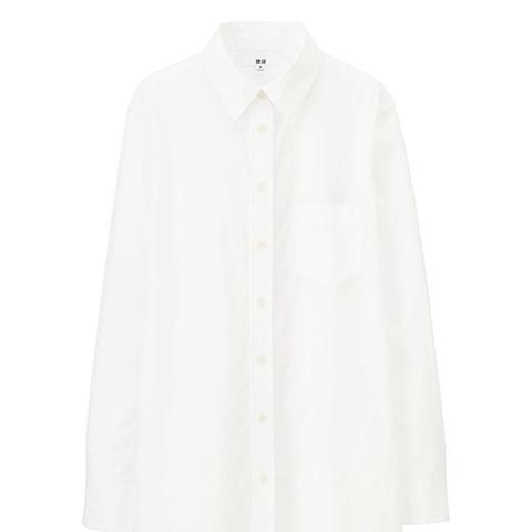 Cotton Long Sleeve Long Shirt