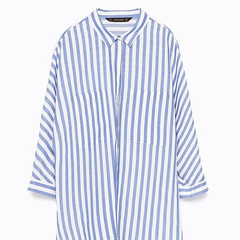 Striped Shirt With Kimono Sleeves