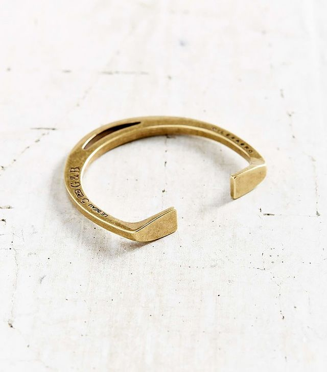 Giles & Brother Stirrup Brass Cuff Bracelet