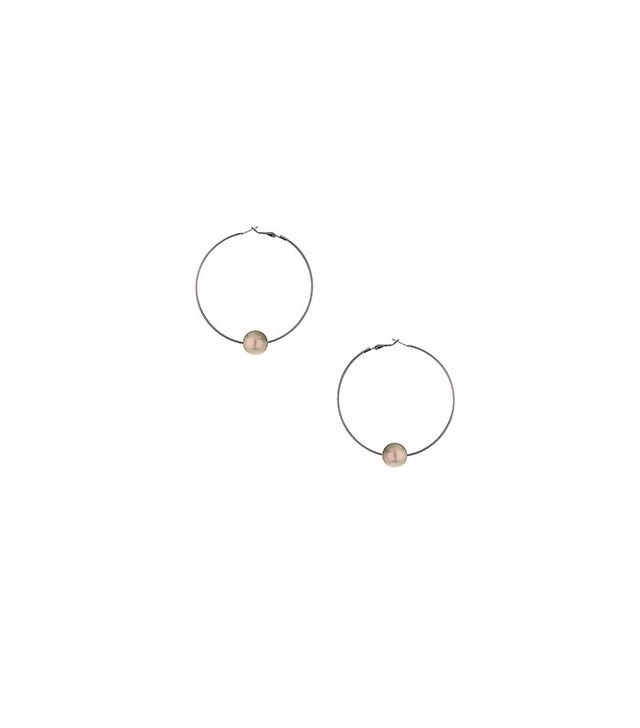 Topshop Pearl Hoop Earrings