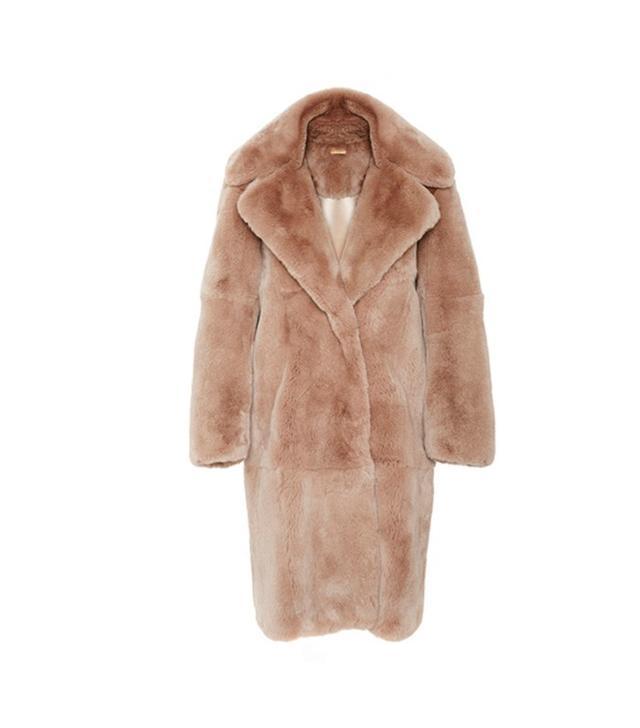 Katie Ermilio Rabbit Open Front Pea Coat