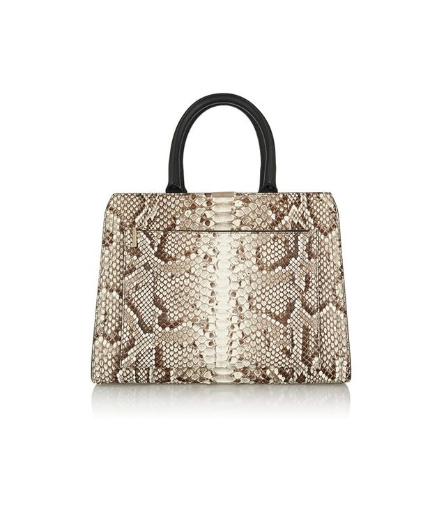Victoria Beckham City Victoria Python and Leather Tote