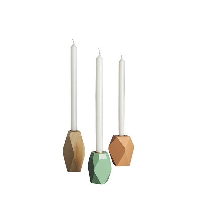 CB2 Pomona Wood Candle Holders