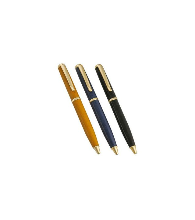 Graphic Image Leather-Wrapped Pens