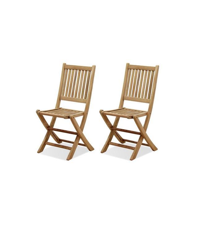 Amazonia Teak London 2-Piece Teak Folding Chair