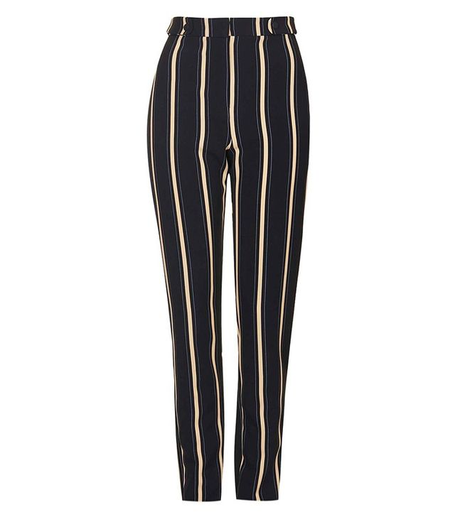 Topshop Stripe Print Cigarette Trousers