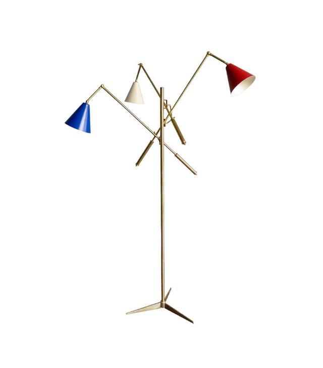"""Arredoluce Italian """"Triennale"""" Brass Floor Lamp"""