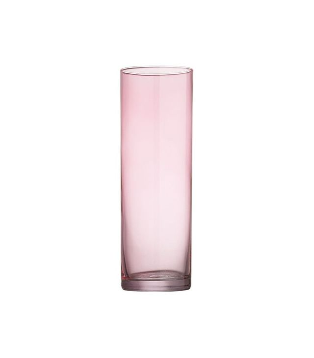CB2 Cylinder Pink Champagne Flute
