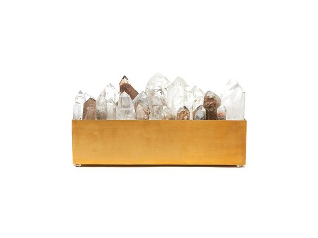 The Dreslyn Rectangle Crystal Point Light Box in Quartz Crystal