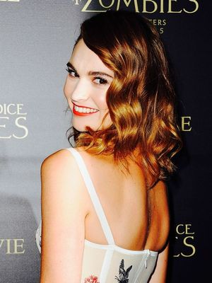 The Trick for Lily James's Soft Romantic Waves