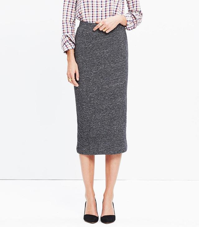 Madewell Marled Midi Skirt