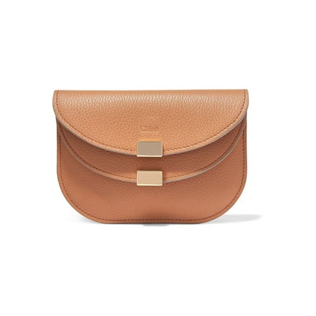 Chloe Georgia textured-leather wallet