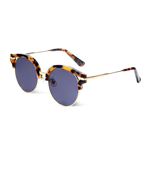 Gentle Monster Flying Piggy Tortoisehell Clubmaster-Style Sunglasses