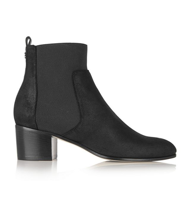 Jimmy Choo Hallow Coated Suede Ankle Boots