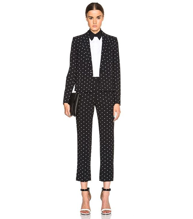 Givenchy Crosses Print Cady Cropped Blazer