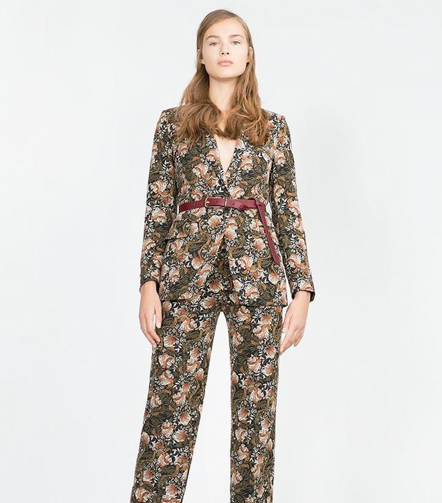 Zara Floral Print Blazer