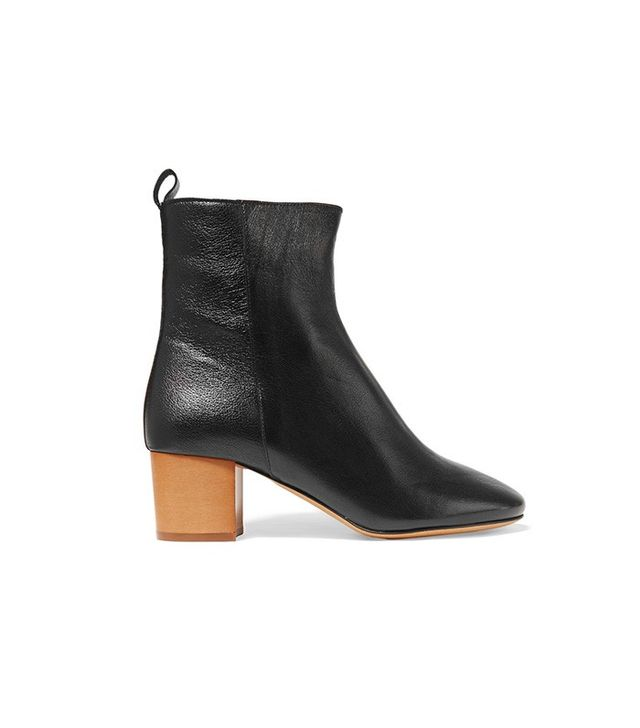 Isabel Marant Étoile Drew Textured-Leather Ankle Boots