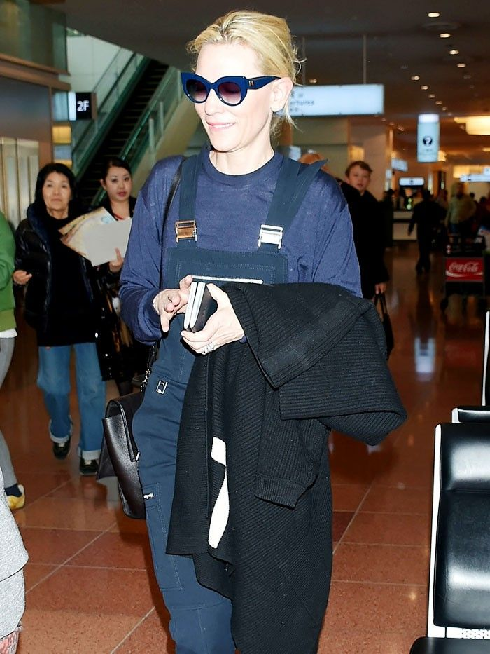 Cate Blanchett Just Wore 1325 Sneakers To The Airport