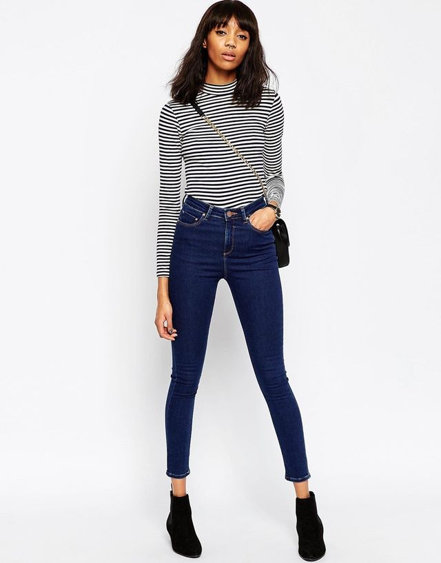 ASOS Ridley Skinny Jeans  in Popular Deep Blue Wash