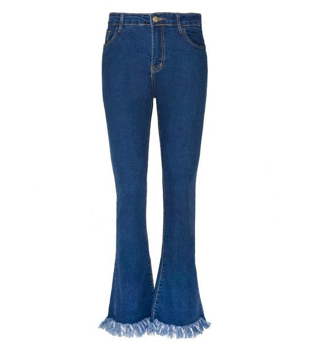 Pixie Market Fringe Bottom Jean