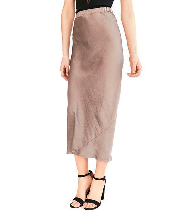 Silence + Noise Sierra Midi Slip Skirt