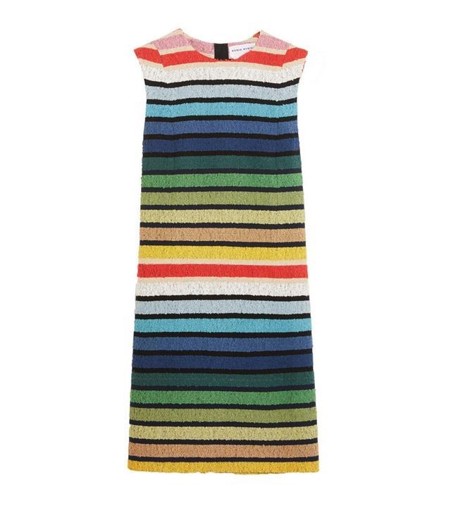 Sonia Rykiel Striped Cotton-Blend Terry Mini Dress