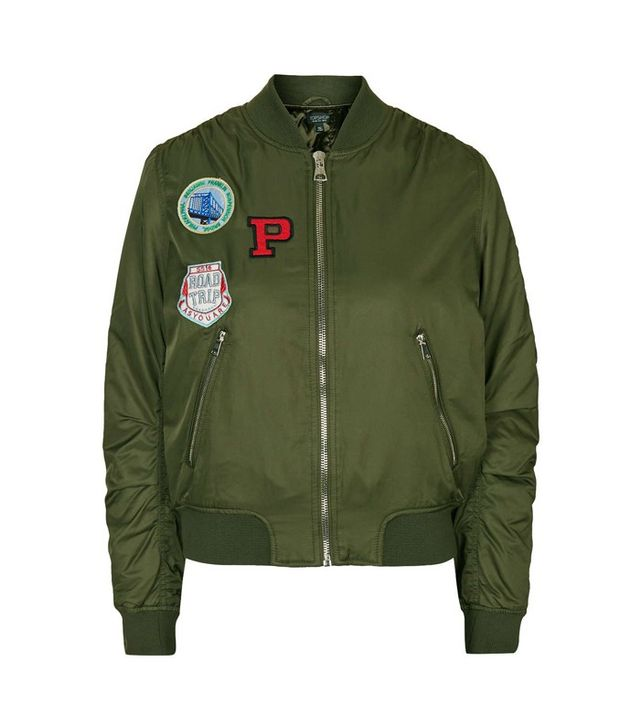 Topshop Badged MA1 Bomber Jacket