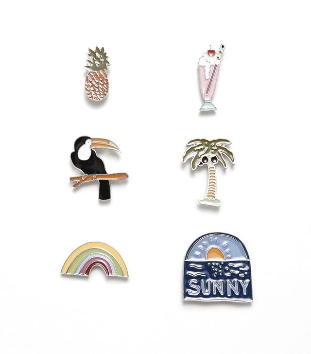 Zara Pack of 6 Tropical Badges