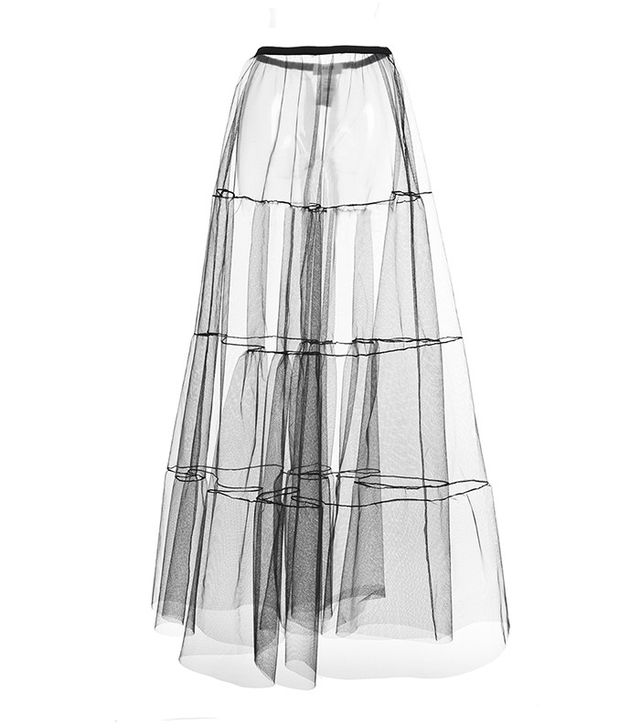 MSGM Tiered Tulle Skirt