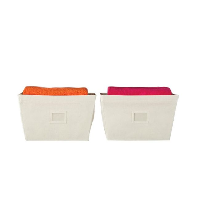 The Container Store Open Canvas Bins