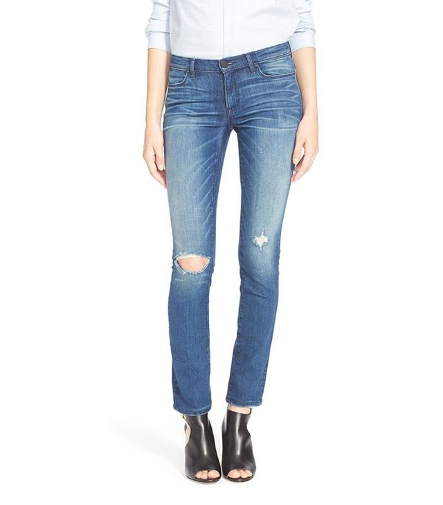 Ayr The Skinny Distressed Skinny Jeans