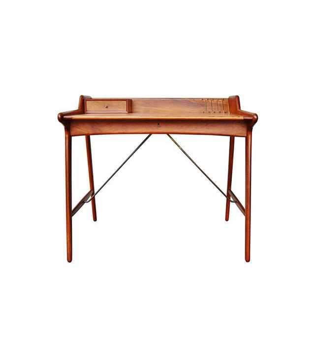Svend Madsen Stunning Minimalist Danish Modern Teak Desk