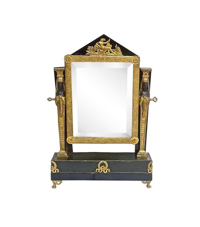 Vermilion Designs Antique French Empire Vanity Mirror