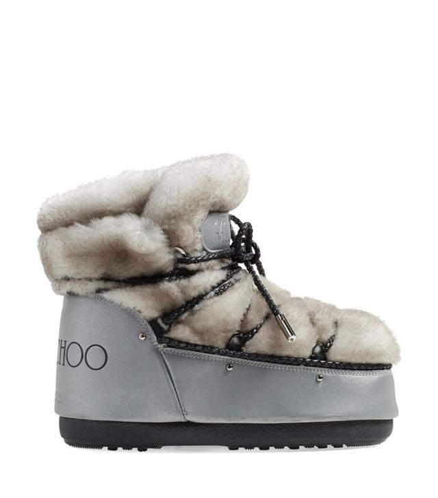Jimmy Choo Genuine Shearling Moon Boots