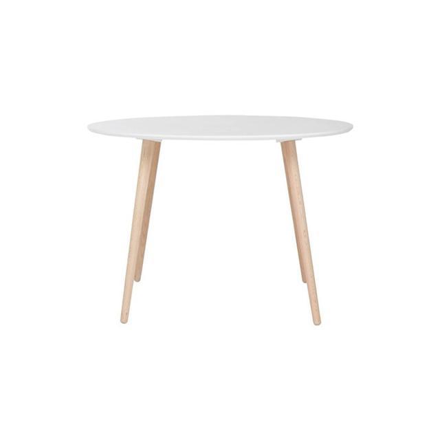 Freedom Brandon Dining Table 110cm Diameter in White/Oak