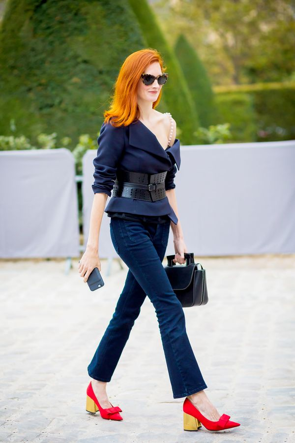 taylor tomasi hill cropped flare jeans