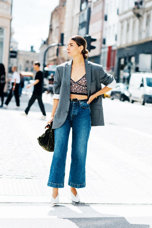 7 rules for wearing cropped flared jeans  whowhatwear uk