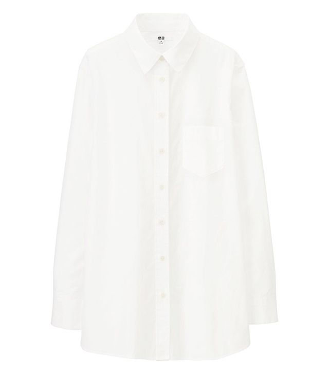 Uniqlo Cotton Long Sleeve Long Shirt