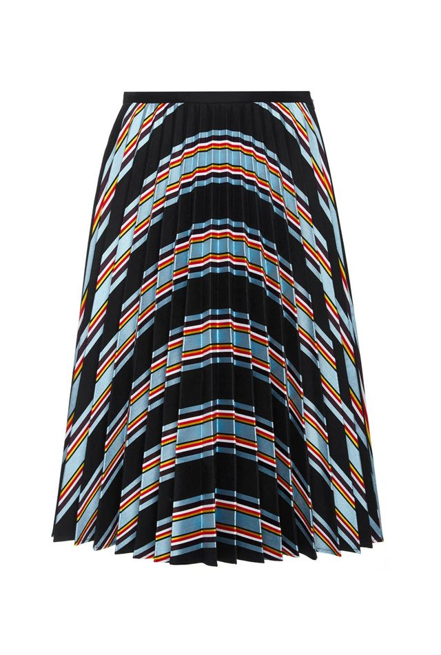 J.W.Anderson Cotton Silk Printed Fan Pleat Skirt