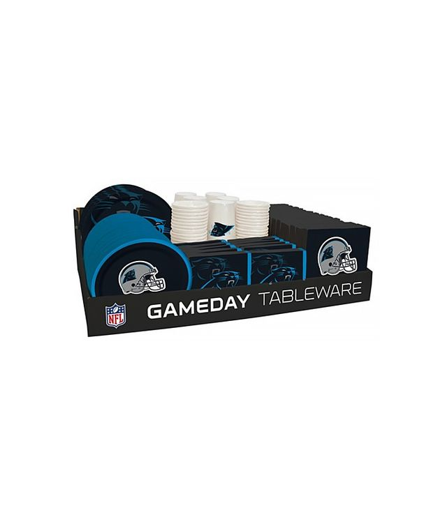 Open Sky NFL 66 Package Tableware Counter Display Carolina Panthers