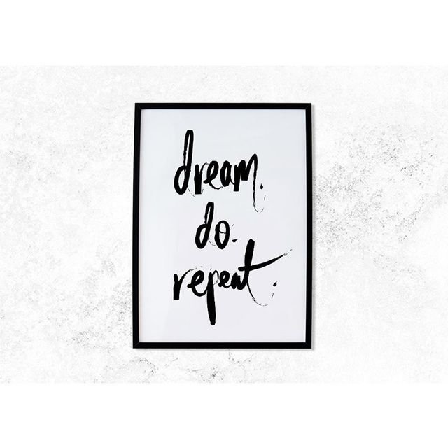 For the Love of Stationery Inspirational Print - Dream Do Repeat