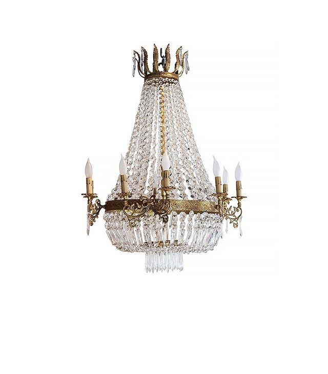 Jacques Antiques French Empire Style Corbeille Chandelier
