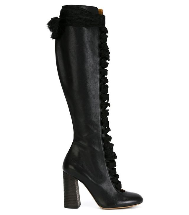 Chloé Lace-Up Knee High Boots