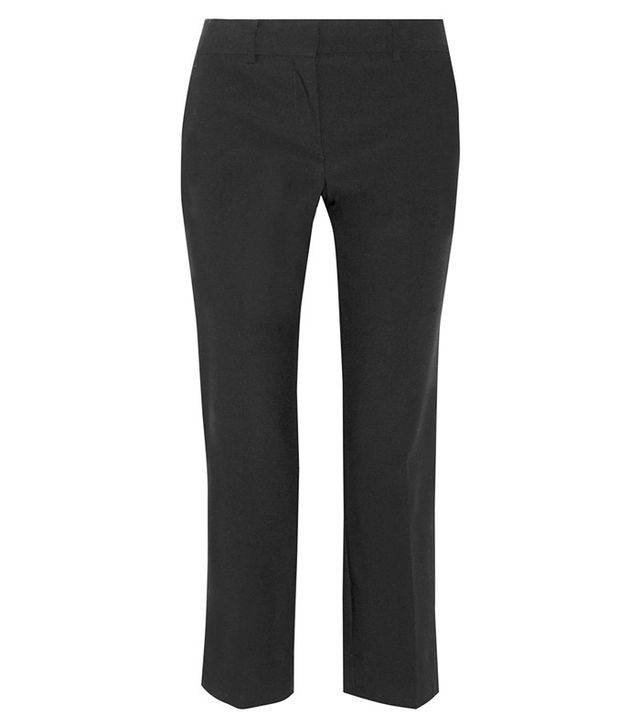 Helmut Lang Cropped Wool-Blend Straight-Leg Pants
