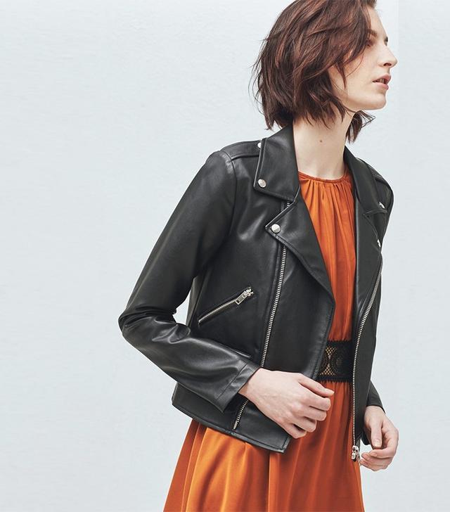 Mango Zipped Biker Jacket