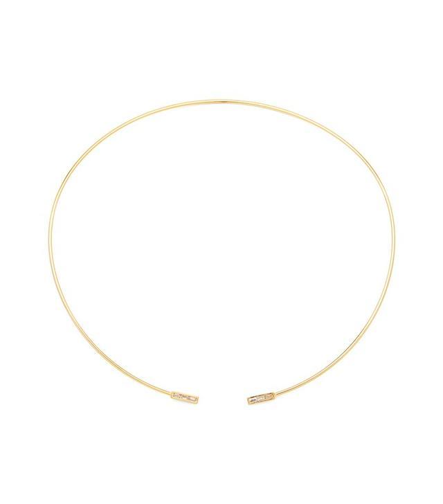 Modern Citizen Stone Trio Collar Necklace (Gold)