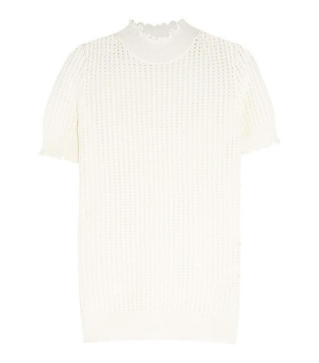 3.1 Phillip Lim Pointelle-Knit Wool-Blend Turtleneck Sweater